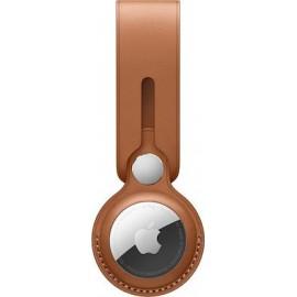 Apple AirTag Leather Loop Saddle Brown