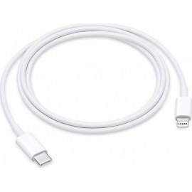 Apple Regular USB 2.0 Cable USB-C male - Lightning Λευκό 1m (MQGJ2ZM/A - BULK)