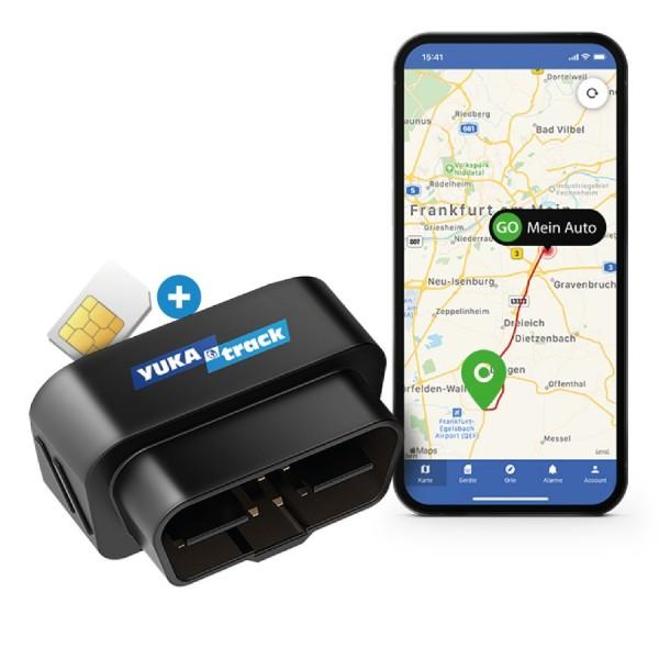 UKAtrack AIO GPS OBD2 Car Tracker with SIM + Data Flat