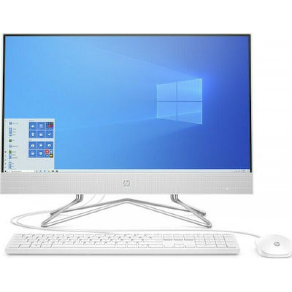 HP AIO 24-df0078ny (Ryzen 5 3500U, 4GB, 1TB, 23.8 FHD AG TOUCH, USB Mouse, keyboard, White, DOS)
