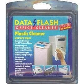 Data Flash Plastic Cleaner wet/dry Wipes