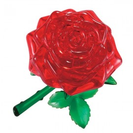 Crystal Puzzle Red Rose 3D