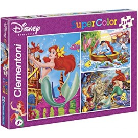 Clementoni – 25131 – Disney, Little Mermaid – 3 x 48 piece Puzzles