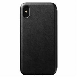 Nomad Tri-Folio Leather Rugged Black iPhone Xs Max