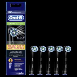 Braun Oral-B Toothbrush heads Cross Action 5 pcs. black