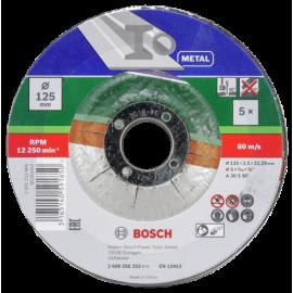 Bosch 5-piece cutting disc set for metal 125x22,23x2,5 mm