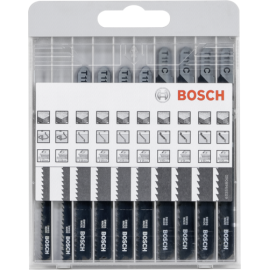 Bosch 10 pcs. Jigsaw Blade Kit Basic for Wood