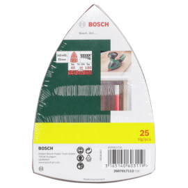 Bosch 25 Sanding Pads for Multi-Sanders  Grit 40-180 10 pc