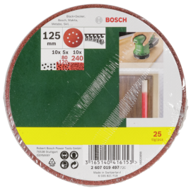 Bosch 25 Sanding Pads for Random Orbit Sander 125mm