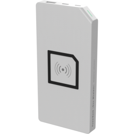 allocacoc PowerBank Duo Wireless white 8000 mAh