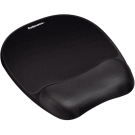 Fellowes Memory Foam Wrist Support with Mousepad  bl