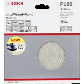 Bosch Abrasive Sanding Sheet 150mm K100 5x        M480