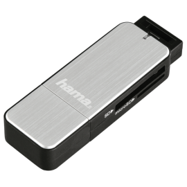 Hama USB 3.0 Multi Card Reader SD/microSD Alu black/silver
