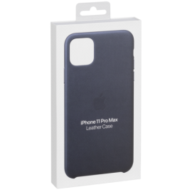 Apple iPhone 11 Pro Max Leather Case Midnight Blue