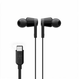 Belkin Rockstar In-Ear Headphone USB-C Connector bl. G3H0002btBLK