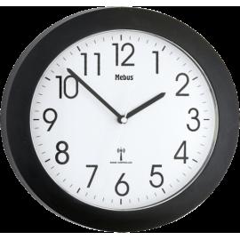 Mebus 52450 wireless wall clock black