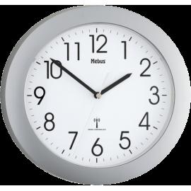 Mebus 52451 wireless wall clock silver