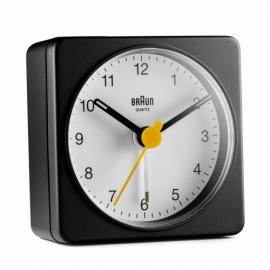 Braun BC 02 BW quartz alarm clock black