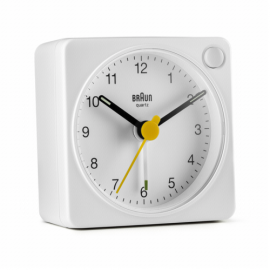 Braun BC 02 XW quartz alarm white with light switch