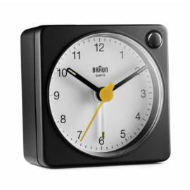 Braun BC 02 XWB quartz alarm white / black with light switch
