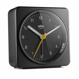 Braun BC 03 B quartz alarm clock analog black