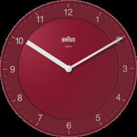 Braun BC 06 R Quartz wall clock analog red