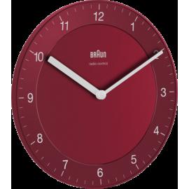 Braun BC 06 R-DCF radio wall clock red