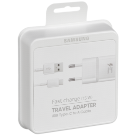 Samsung USB Type-C Cable & Wall Adapter Λευκό (EP-TA20EWE+EP-DN930CWE) (Retail)