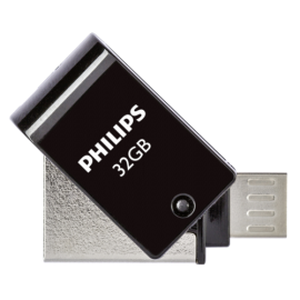 Philips 2 in 1 Black 32GB OTG microUSB + USB 2.0