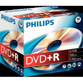 1x10 Philips DVD+R 4,7GB 16x JC