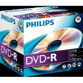 1x10 Philips DVD-R 4,7GB 16X JC