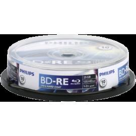 1x10 Philips Blu-Ray ReWritable 25GB 2x SP