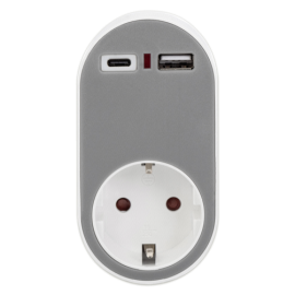 Digitus universal socket Adapter 1x USB-C, 1x USB-A