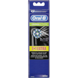 Braun Oral-B Toothbrush heads Cross Action black 3+1