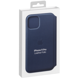 Apple iPhone 11 Pro Leather Foli Deep Blue Sea