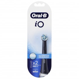 Braun Oral-B iO Toothbrush heads Ultimate Cleaning 2 pcs.  Black