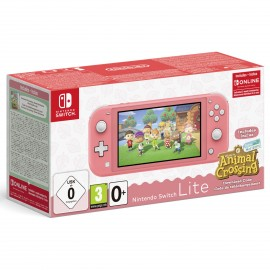 Nintendo Switch Lite coral incl. Animal Crossing