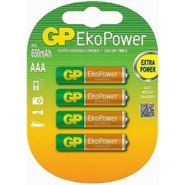1x4 GP EkoPower AAA 650mAh Ideal for most Chargers