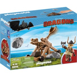Playmobil Dragons Gobber with Catapult 9245