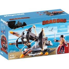 Playmobil Dragons Ο Έρετ με Τετραπλή Βαλλίστρα & Βέλη Φωτιάς 9249