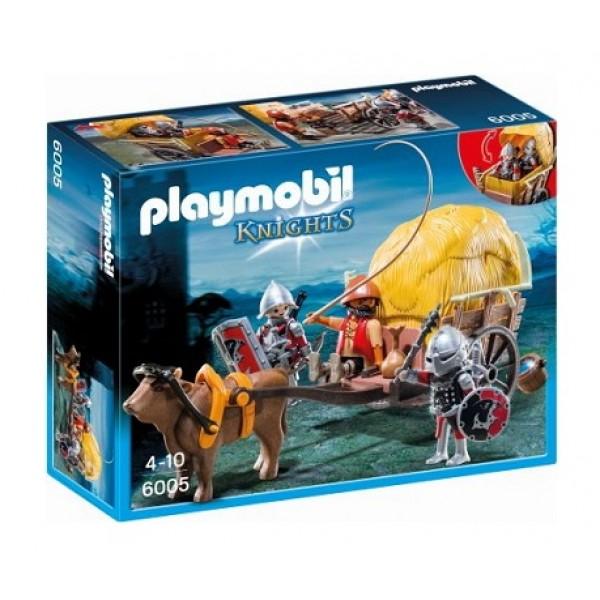 Playmobil Ιππότες του Γερακιού με Κάρο-Κρυψώνα 6005