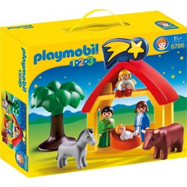 Playmobil 1 2 3 Χριστουγεννιάτικη Φάτνη 6786