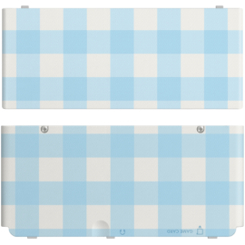 Nintendo New 3DS Coverplate Blue white checked