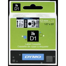 Dymo D1 12mm Black/Clear labels 45010