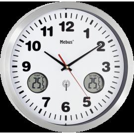 Mebus 41246 white Radio controlled Wall Clock