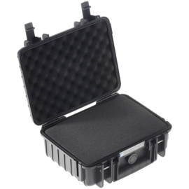 B&W Outdoor Case Type 1000 black with pre-cut foam insert