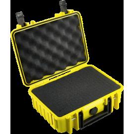 B&W Outdoor Case Type 1000 yellow with pre-cut foam insert