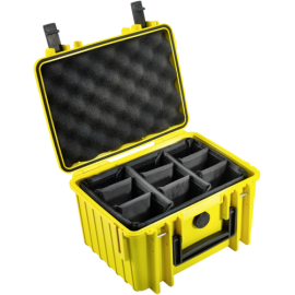 B&W Outdoor Case 2000 yellow padded partition insert