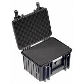 B&W Outdoor Case Type 2000 black with pre-cut foam insert
