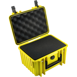 B&W Outdoor Case Type 2000 yellow with pre-cut foam insert
